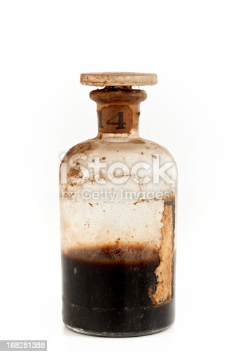 old bottle with poison.