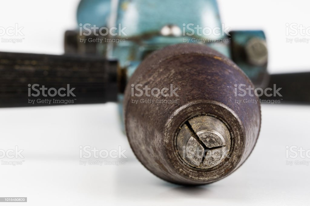 An Old Hand Drill For Drilling Holes In Wood And Metal Carpentry