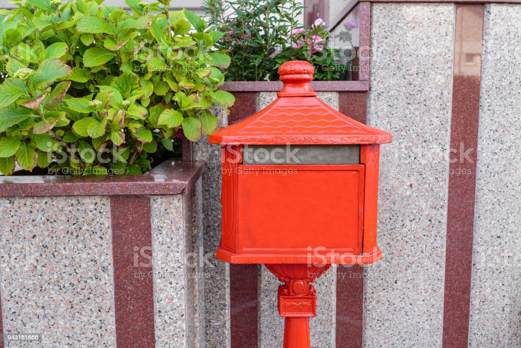 ... Antique Post Office Mailboxes Videos, · An Old Home Letter Box, Red  Painted. Italy Stock Photo