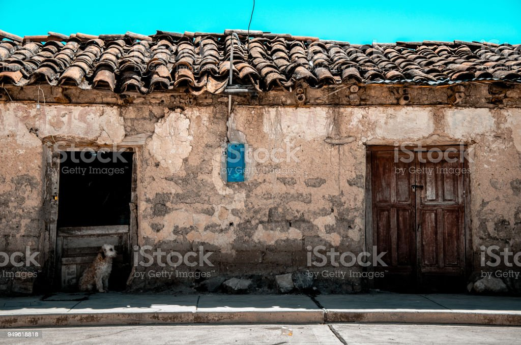An old house in Ayacucho - Peru stock photo