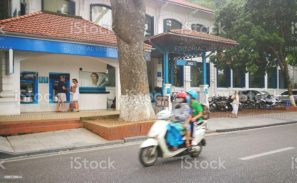 - an old house near Hoan Kiem foto royalty-free