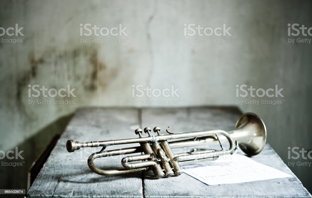 An Old Jazz Trumpet From The 1940s Stock Photo - Download