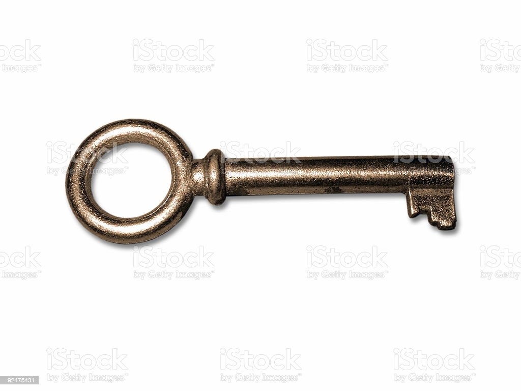 An old key royalty-free stock photo