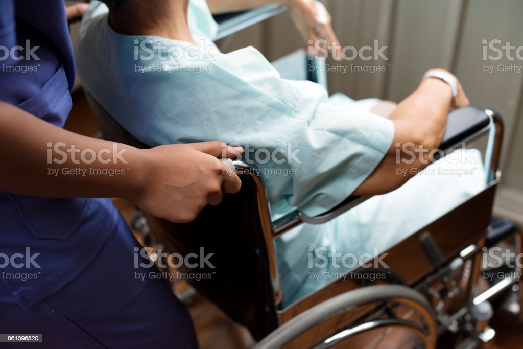 An old patient at a hospital royalty-free stock photo