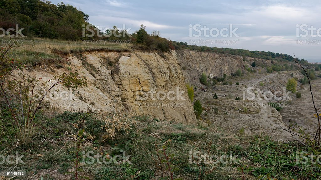 An old quarry landscape stock photo