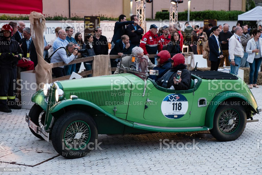 Lancia Augusta Cabriolet An Old Racing Car In Rally Mille Miglia ...