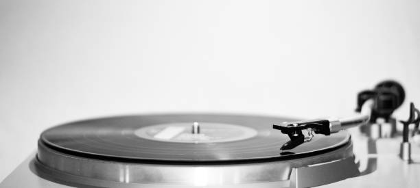 An old record player plays an old song