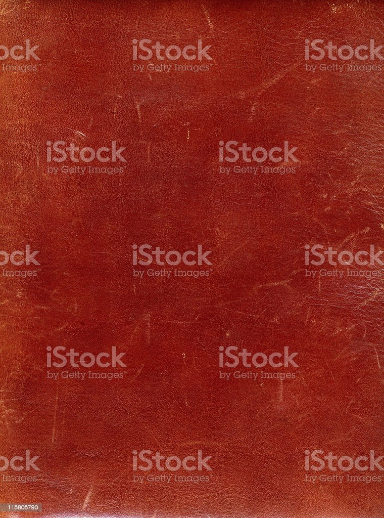 An old red leather with minor scratches  royalty-free stock photo