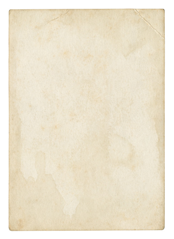 Old blank paper (isolated clipping path included)