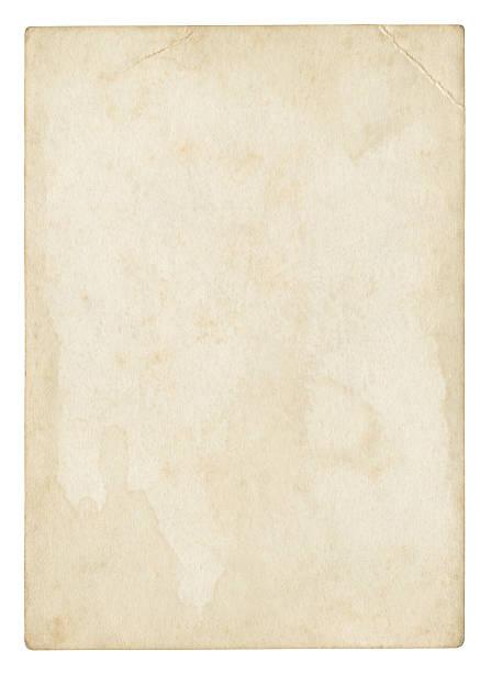 vecchia carta isolato su bianco, percorso incluso di ritaglio - antico vecchio stile foto e immagini stock