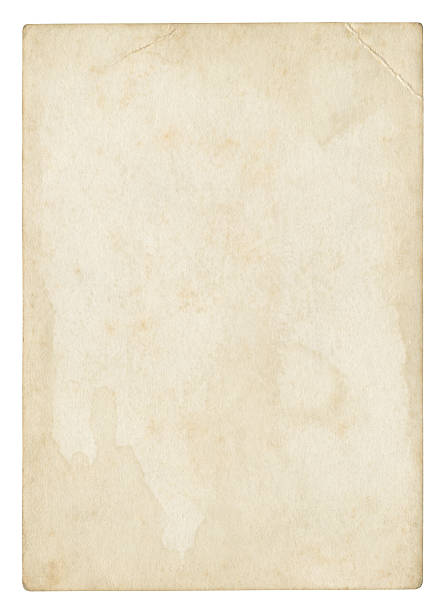 an old stained blank piece of beige paper - the past stock photos and pictures