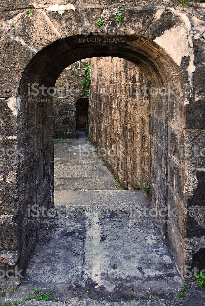 An Old Stone Arch royalty-free stock photo