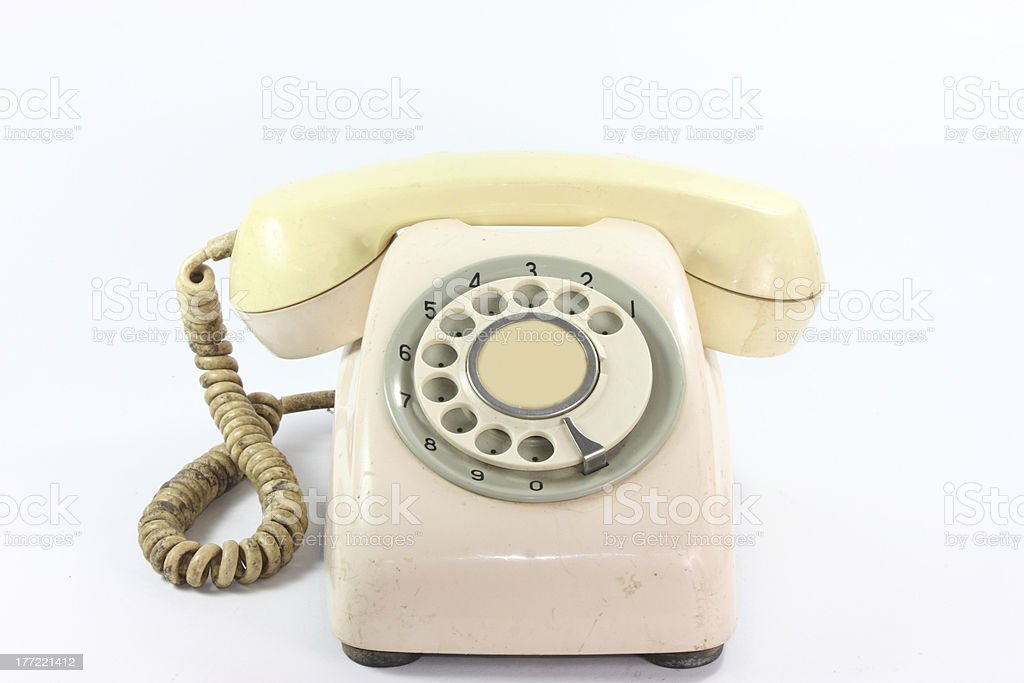 An old telephone dail stock photo