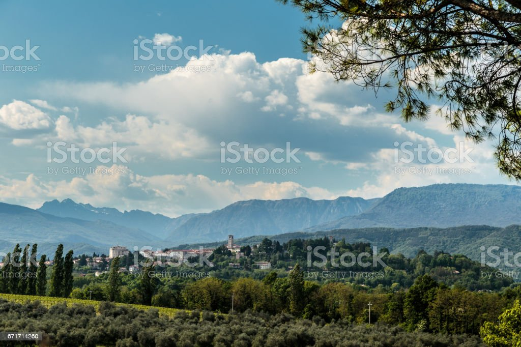 An old village in the italian countryside stock photo