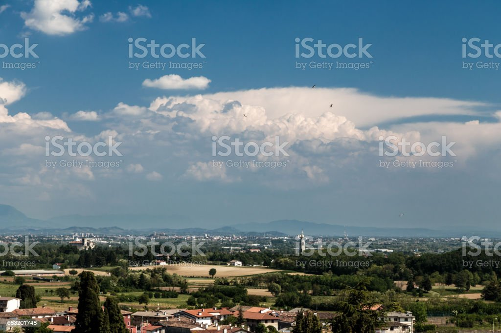 An old village in the italian countryside royalty-free stock photo