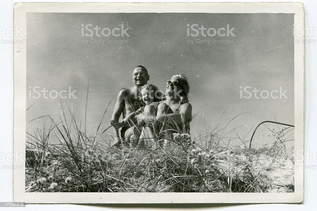 An old vintage family photograph stock photo