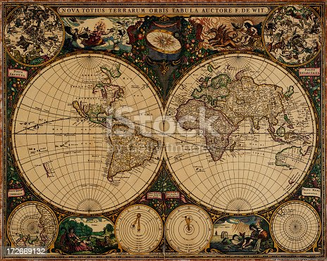 an old planisphere for sailors