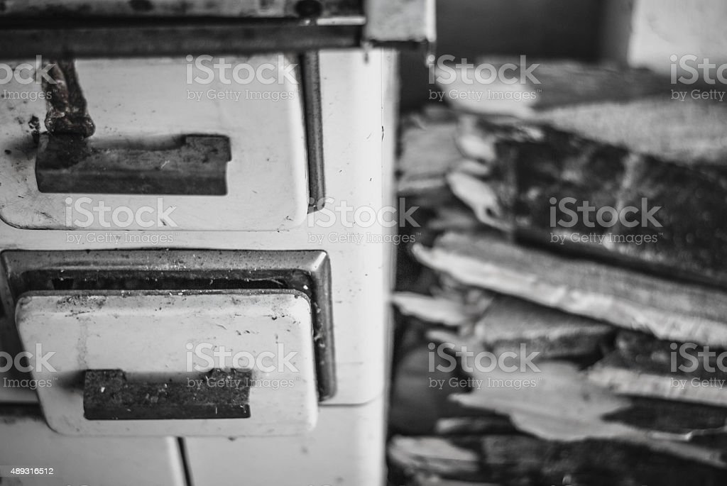 An old wood-burning stove stock photo