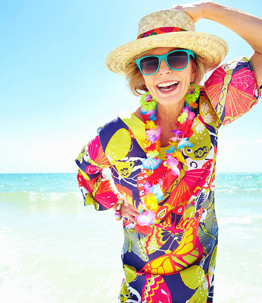 Woman Enjoying At Beach Stock Image Image Of Pleasure: Royalty Free Old Lady Sunglasses Pictures, Images And