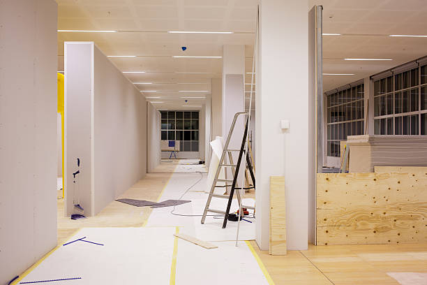 An on-going office renovation  stock photo