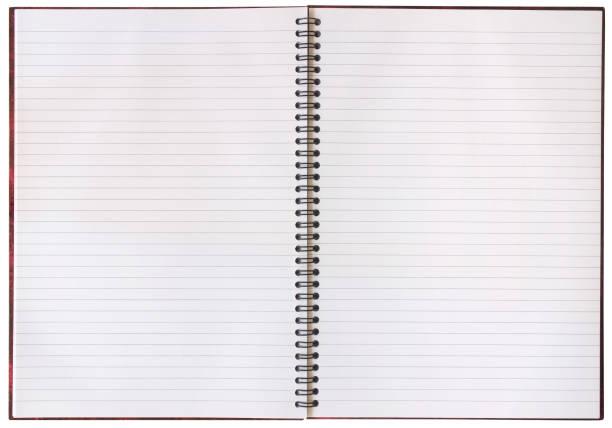an open notebook with blank pages - linjerat papper bakgrund bildbanksfoton och bilder