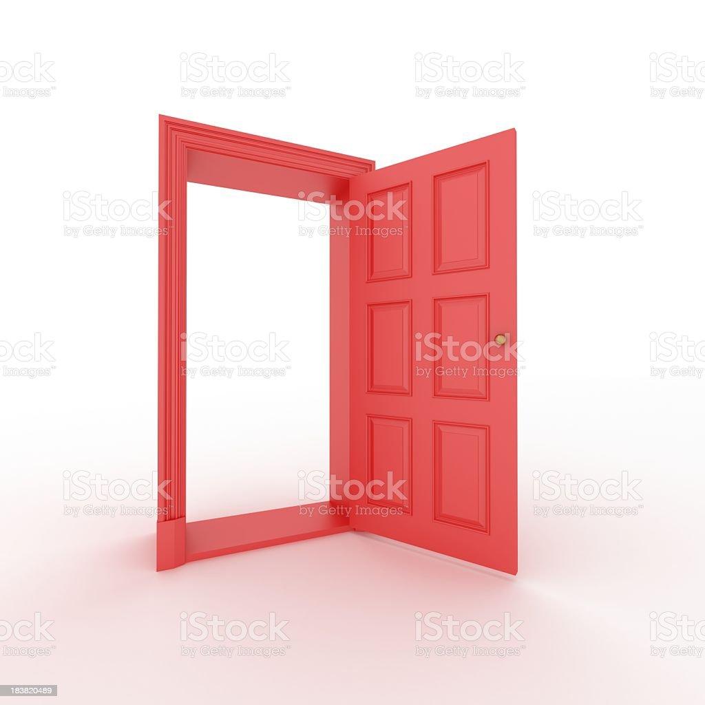 red porta aberta - foto de acervo