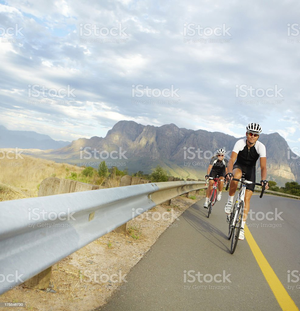 An open road leading to fitness and wellbeing royalty-free stock photo