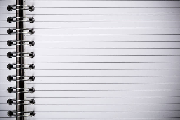 an open spiral bound notebook - linjerat papper bakgrund bildbanksfoton och bilder