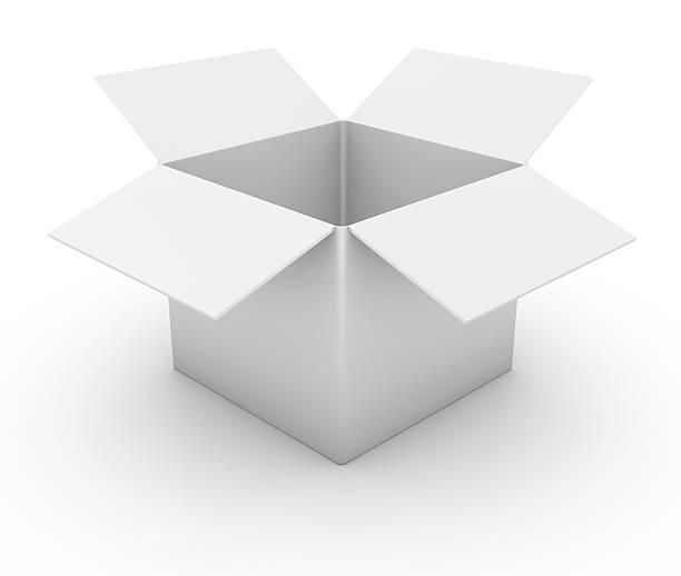 otwarty karton - puste pudełko zdjęcia i obrazy z banku zdjęć