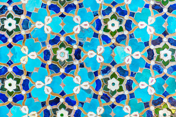 An oriental mosaic pattern on a mosque – Foto