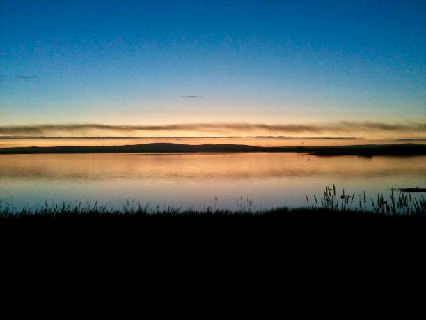an orkney dusk - mcdermp stock photos and pictures