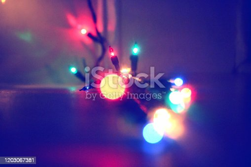 889246424 istock photo An out of focus string of Christmas lights 1 1203067381