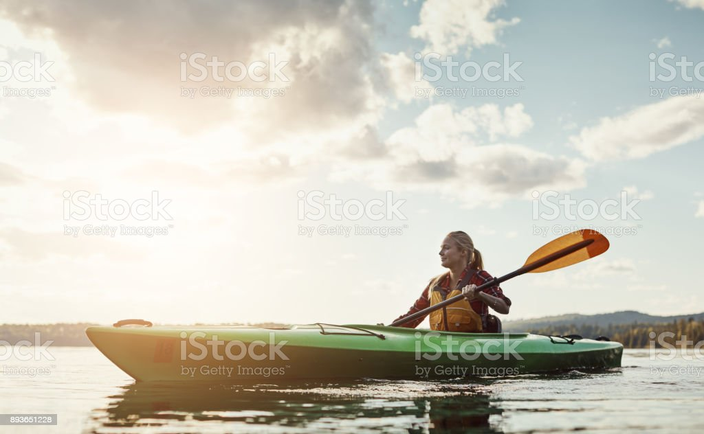 An outdoors activity with a little exercise involved stock photo