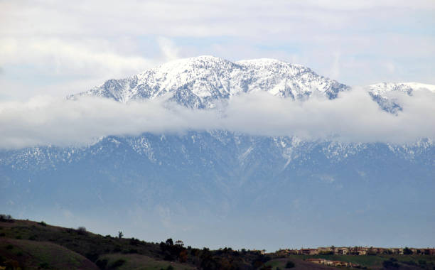An Overcast Day at Mount Baldy stock photo