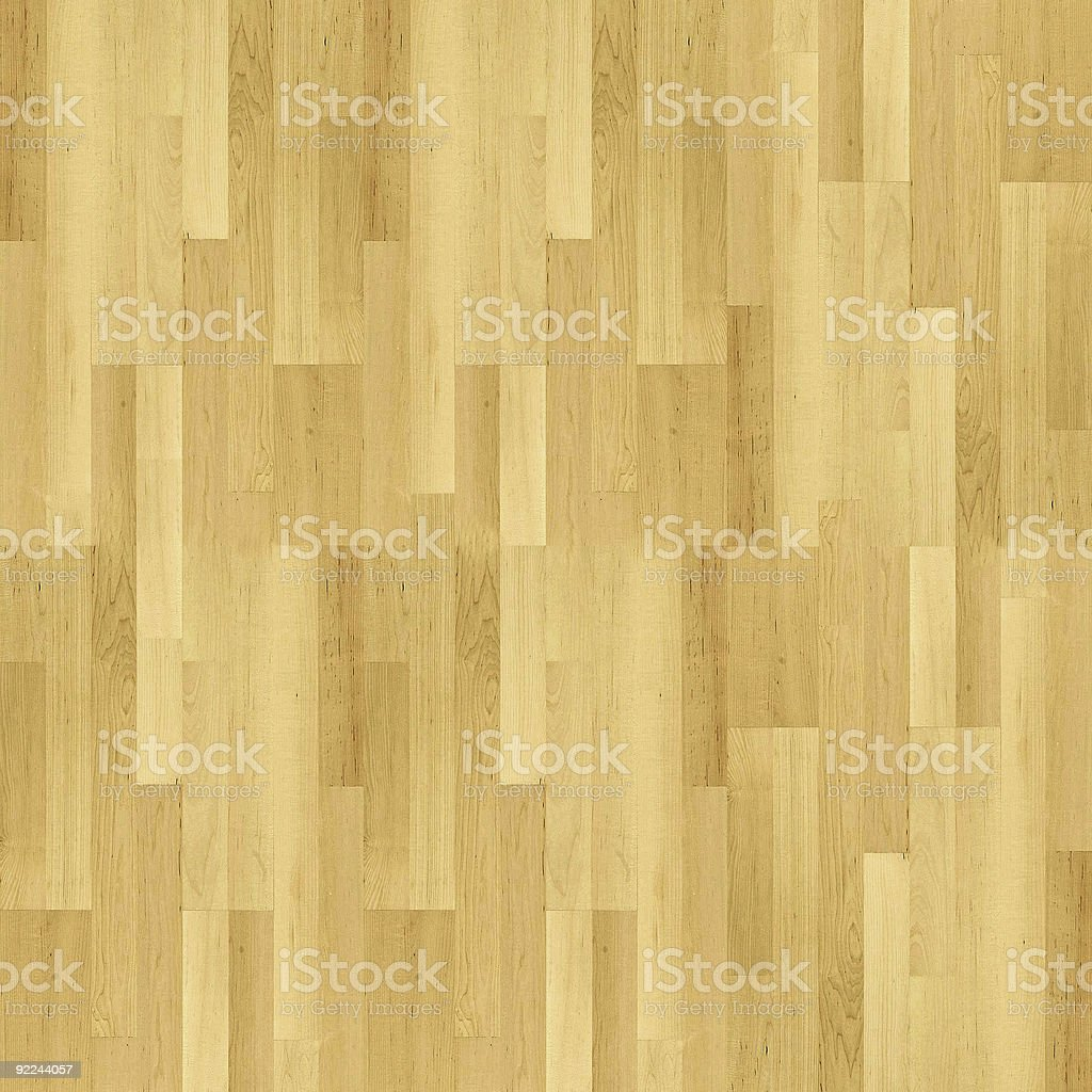 An overhead view of the slats of a parquet wood floor royalty-free stock photo