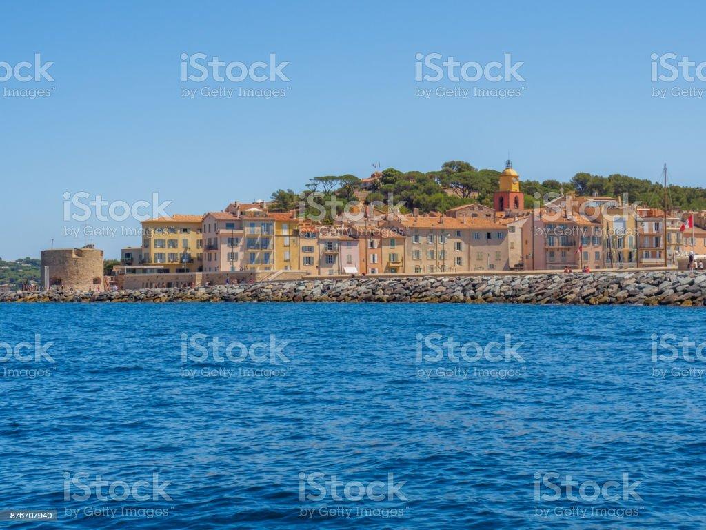 Tener Una Visión General De La Ciudad De Saint Tropez Foto