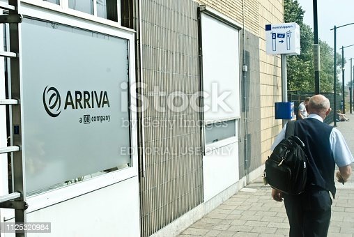 istock An senior train driver walking past an Arriva station office at Venlo railway station, the Netherlands. Arriva is a subsidiary of Deutsche Bahn 1125320984