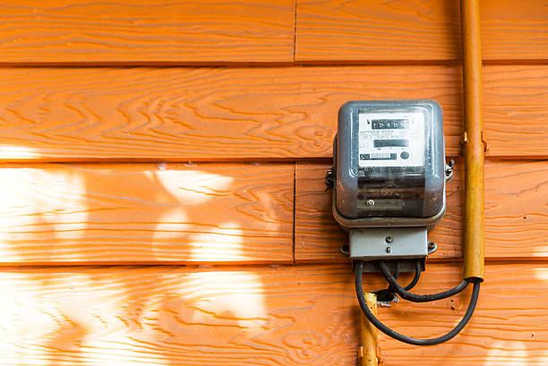 An Smart Meter in soft light stock photo