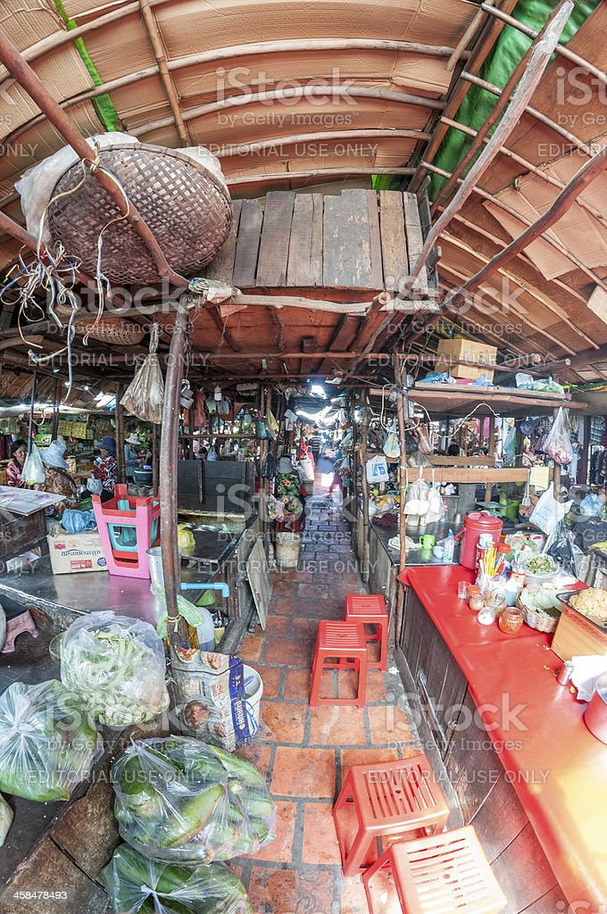 An Under Cover Market In Phnom Penh, Cambodia royalty-free stock photo
