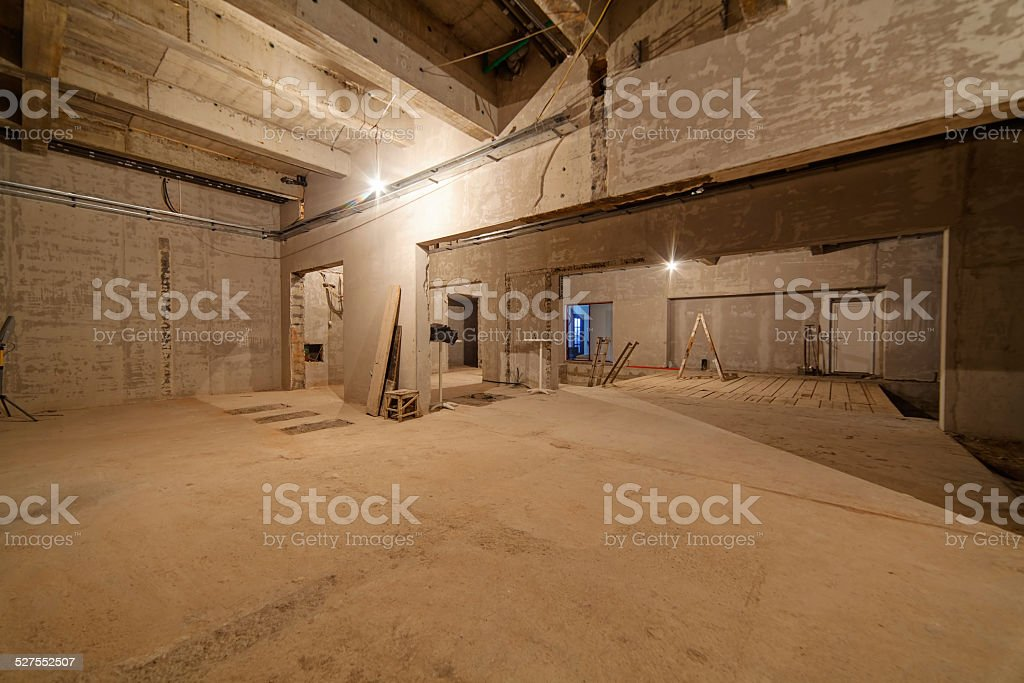 an unfinished residential complex stock photo