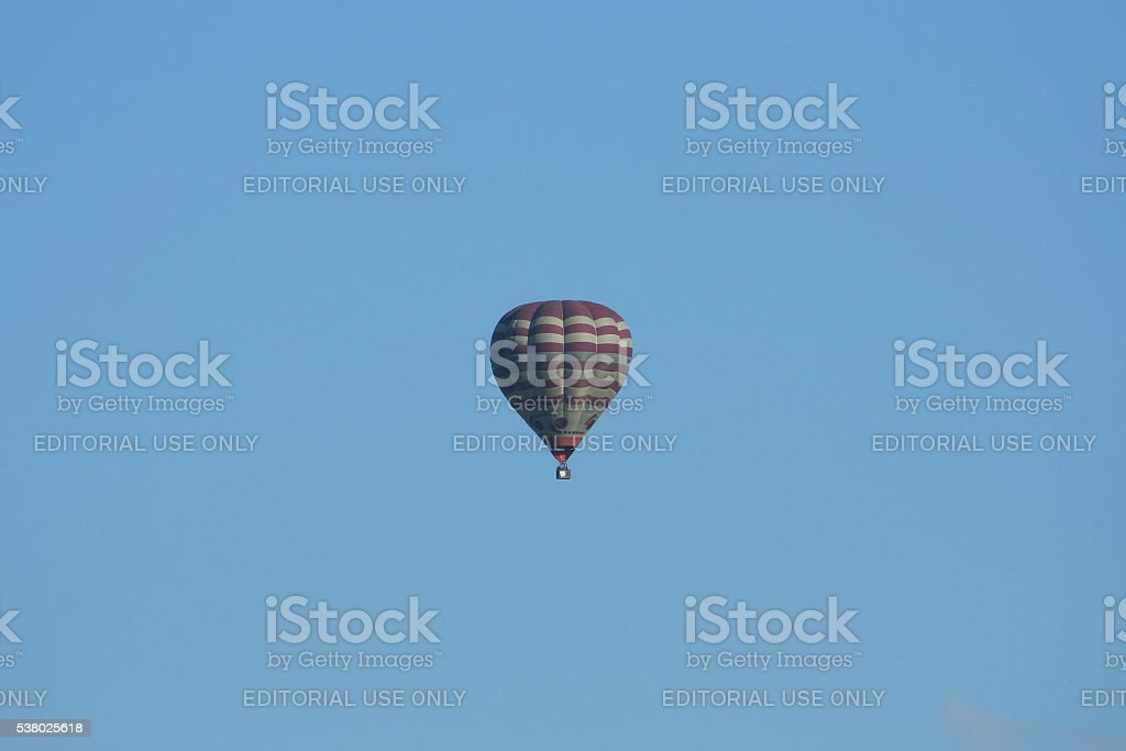 An unidentified HS-SMG hot air balloon. stock photo