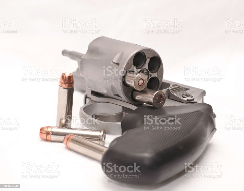 Un revólver descargado - foto de stock