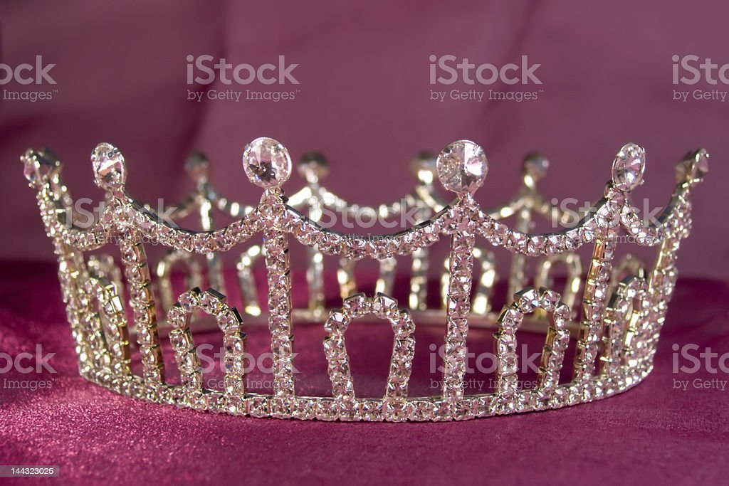 An up close image of a wedding crown stock photo