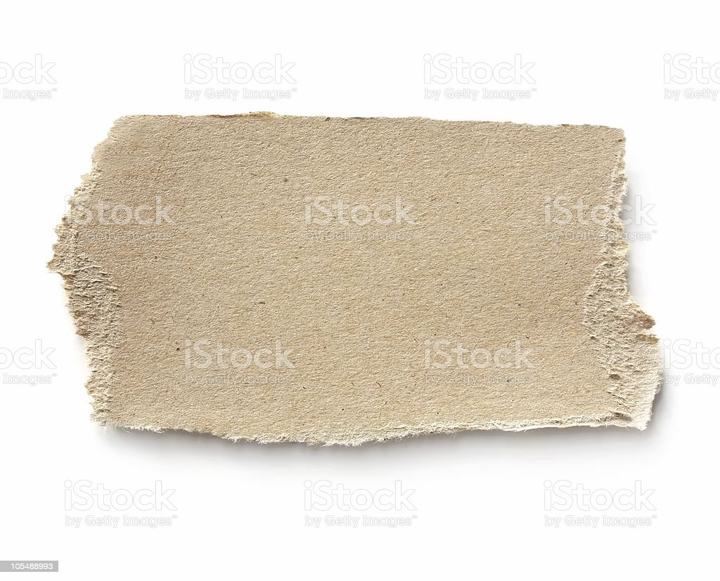 An up close picture of a piece of brown cardboard royalty-free stock photo