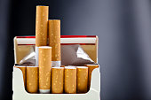istock An up close view of a package of several cigarettes  92172352