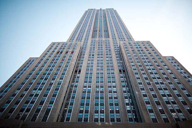 An up shot of the Empire State Building Empire state Building, midtown Manhattan, New York City empire state building stock pictures, royalty-free photos & images
