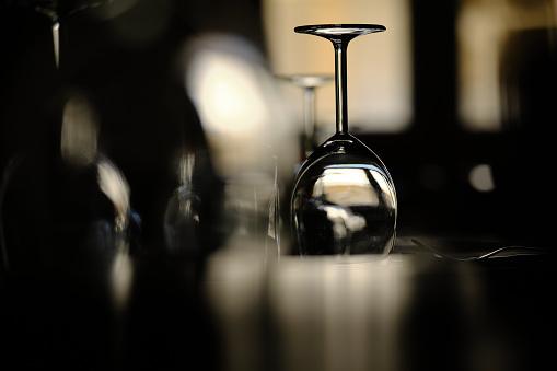 An upturned glass
