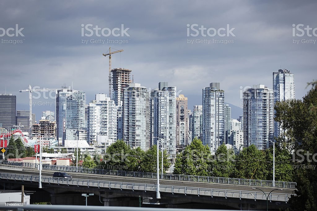 An urban skyline in Vancouver royalty-free stock photo