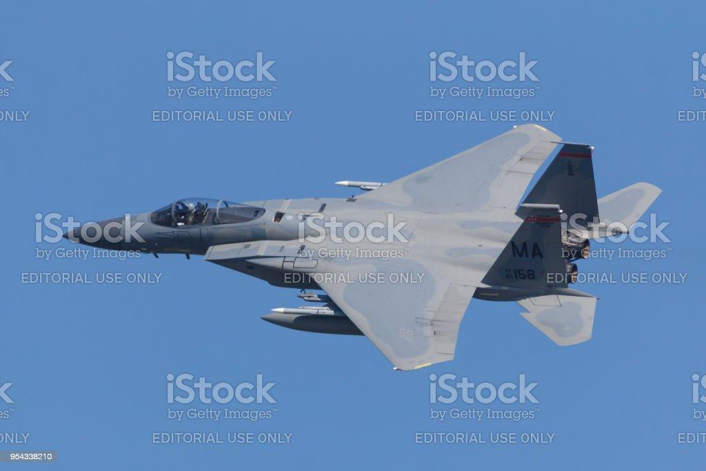 Een F-15 van de USAF 0f de 104th Fighter Wing tijdens de Frisian Flag oefenen foto