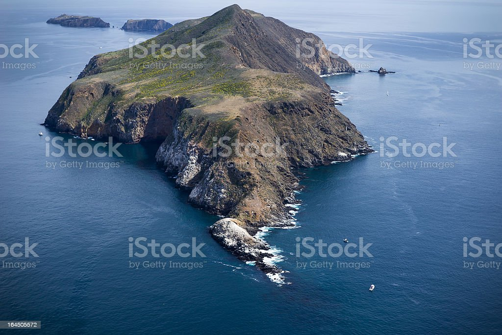 Anacapa Island Aerial View Ventura County, California stock photo
